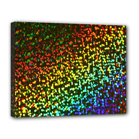 Construction Paper Iridescent Canvas 14  X 11  by Amaryn4rt