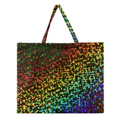 Construction Paper Iridescent Zipper Large Tote Bag by Amaryn4rt