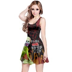 Zombie Reversible Sleeveless Dress by PattyVilleDesigns