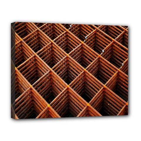 Metal Grid Framework Creates An Abstract Canvas 14  X 11  by Amaryn4rt