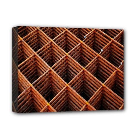 Metal Grid Framework Creates An Abstract Deluxe Canvas 16  X 12   by Amaryn4rt