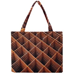 Metal Grid Framework Creates An Abstract Mini Tote Bag by Amaryn4rt