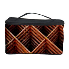 Metal Grid Framework Creates An Abstract Cosmetic Storage Case by Amaryn4rt