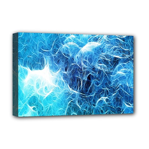 Fractal Occean Waves Artistic Background Deluxe Canvas 18  X 12   by Amaryn4rt
