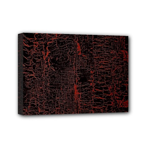 Black And Red Background Mini Canvas 7  X 5  by Amaryn4rt