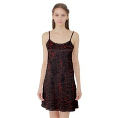 Black And Red Background Satin Night Slip