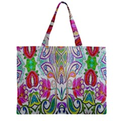 Wallpaper Created From Coloring Book Zipper Mini Tote Bag by Amaryn4rt