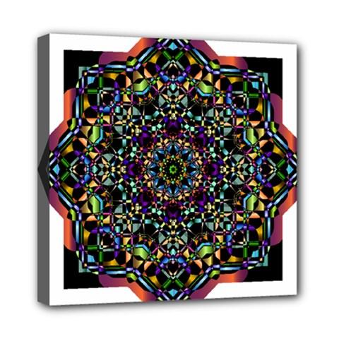 Mandala Abstract Geometric Art Mini Canvas 8  X 8  by Amaryn4rt