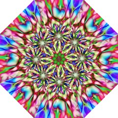 Magic Fractal Flower Multicolored Straight Umbrellas by EDDArt