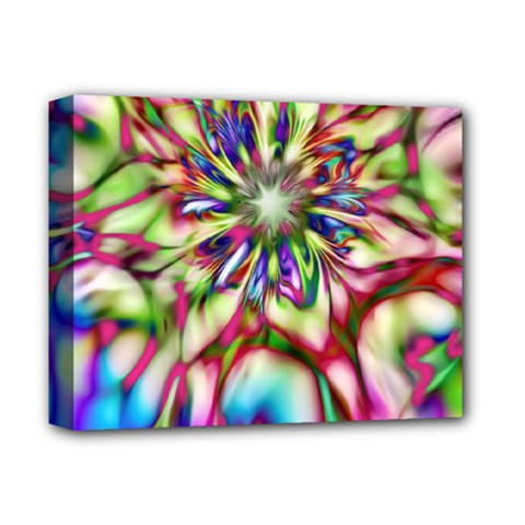 Magic Fractal Flower Multicolored Deluxe Canvas 14  X 11  by EDDArt