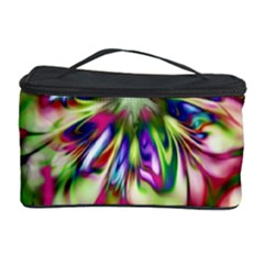 Magic Fractal Flower Multicolored Cosmetic Storage Case by EDDArt