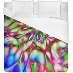 Magic Fractal Flower Multicolored Duvet Cover (king Size) by EDDArt