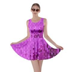 Purple Background Scrapbooking Paper Skater Dress