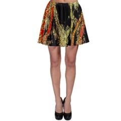 Artistic Effect Fractal Forest Background Skater Skirt