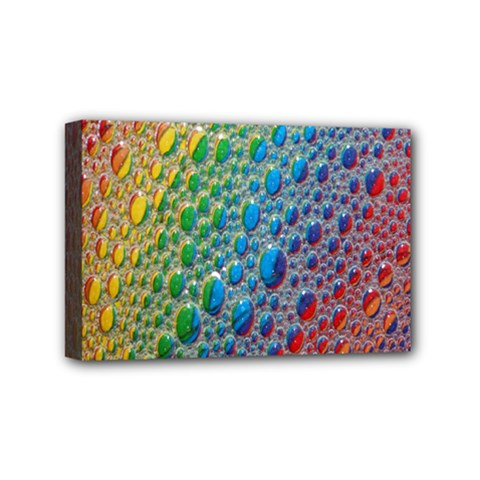 Bubbles Rainbow Colourful Colors Mini Canvas 6  X 4  by Amaryn4rt