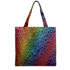 Bubbles Rainbow Colourful Colors Grocery Tote Bag by Amaryn4rt