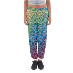 Bubbles Rainbow Colourful Colors Women s Jogger Sweatpants by Amaryn4rt
