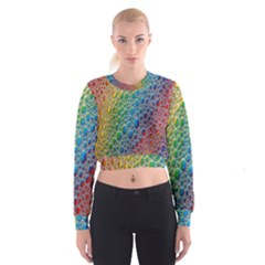 Bubbles Rainbow Colourful Colors Women s Cropped Sweatshirt by Amaryn4rt