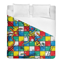 Snakes And Ladders Duvet Cover (full/ Double Size) by Amaryn4rt