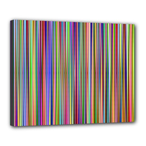 Striped Stripes Abstract Geometric Canvas 20  X 16  by Amaryn4rt