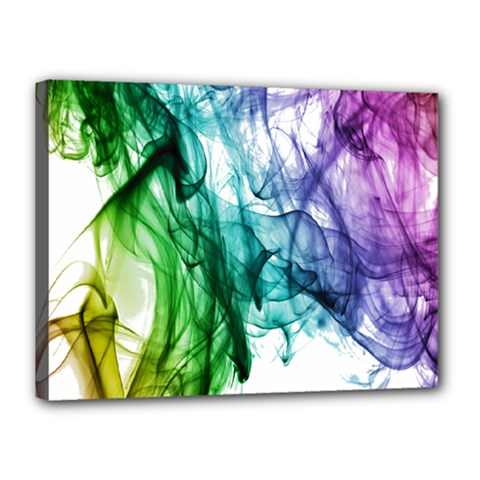 Colour Smoke Rainbow Color Design Canvas 16  X 12  by Amaryn4rt