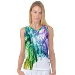 Colour Smoke Rainbow Color Design Women s Basketball Tank Top