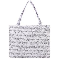 Handwriting  Mini Tote Bag by Valentinaart