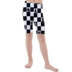 Chess Kids  Mid Length Swim Shorts by Valentinaart