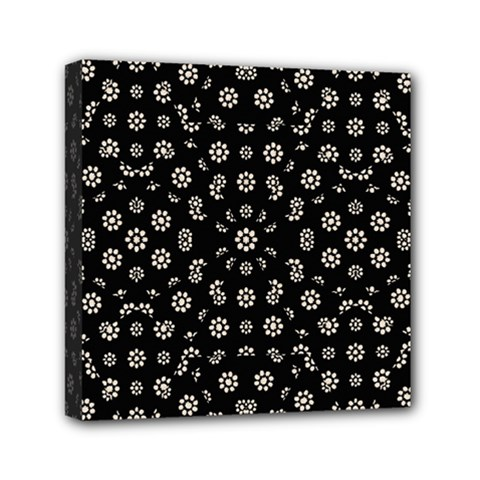Dark Ditsy Floral Pattern Mini Canvas 6  X 6  by dflcprints