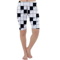 Crosswords  Cropped Leggings  by Valentinaart