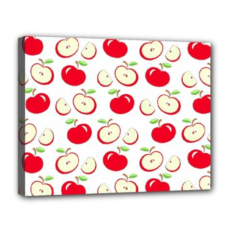 Apple Pattern Canvas 14  X 11  by Valentinaart