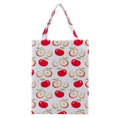 Apple Pattern Classic Tote Bag by Valentinaart