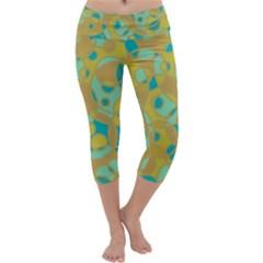 Pattern Capri Yoga Leggings by Valentinaart