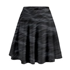 Dark Lake Ocean Pattern River Sea High Waist Skirt by Simbadda