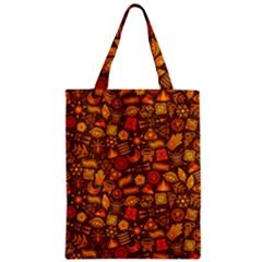 Pattern Background Ethnic Tribal Zipper Classic Tote Bag by Simbadda