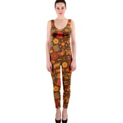 Pattern Background Ethnic Tribal Onepiece Catsuit by Simbadda