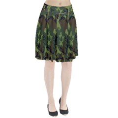 Military Camouflage Pattern Pleated Skirt by Simbadda