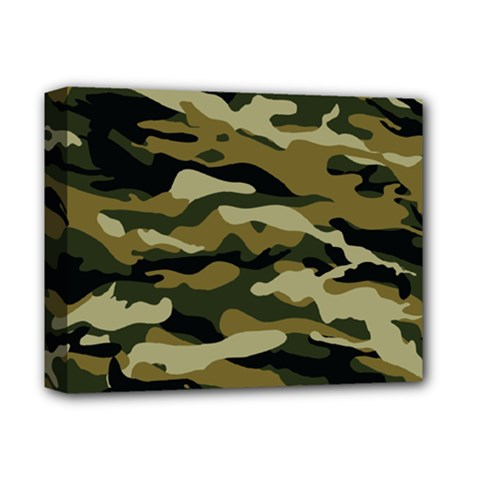 Military Vector Pattern Texture Deluxe Canvas 14  X 11  by Simbadda