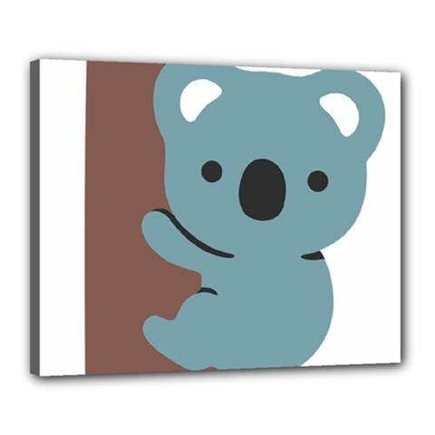 Animal Koala Canvas 20  X 16  by Alisyart