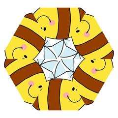 Animals Bee Wasp Smile Face Mini Folding Umbrellas by Alisyart