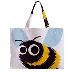 Bee Wasp Face Sinister Eye Fly Zipper Mini Tote Bag by Alisyart