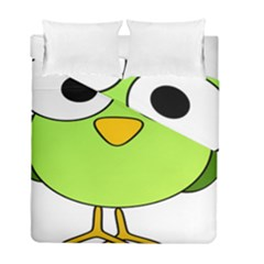 Bird Big Eyes Green Duvet Cover Double Side (full/ Double Size) by Alisyart