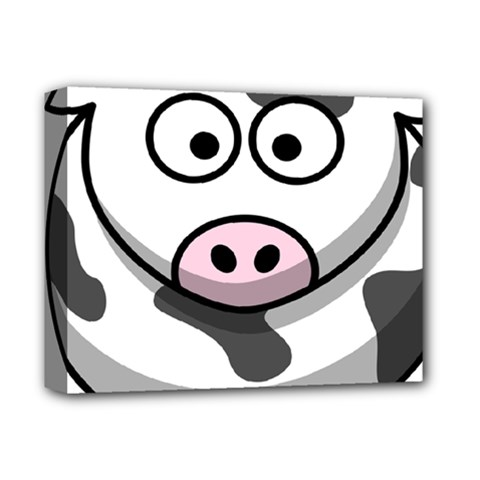Animals Cow  Face Cute Deluxe Canvas 14  X 11  by Alisyart