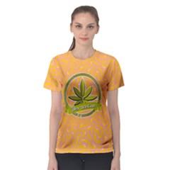 Cannabis Women s Sport Mesh Tee by PattyVilleDesigns