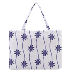 Geometric Flower Seamless Repeating Pattern With Curvy Lines Medium Zipper Tote Bag by Simbadda