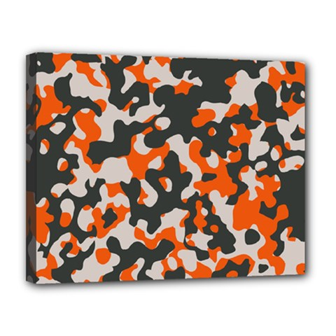 Camouflage Texture Patterns Canvas 14  X 11  by Simbadda