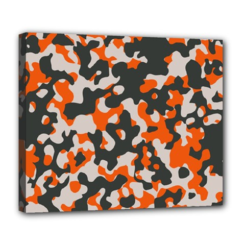 Camouflage Texture Patterns Deluxe Canvas 24  X 20   by Simbadda