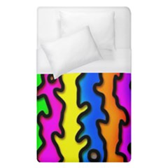 Digitally Created Abstract Squiggle Stripes Duvet Cover (single Size) by Simbadda