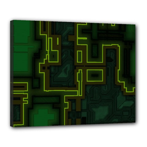A Completely Seamless Background Design Circuit Board Canvas 20  X 16  by Simbadda