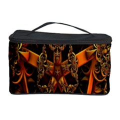 3d Fractal Jewel Gold Images Cosmetic Storage Case by Simbadda